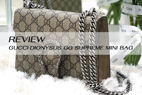 Review GucciDionysus GG Supreme Mini Bag